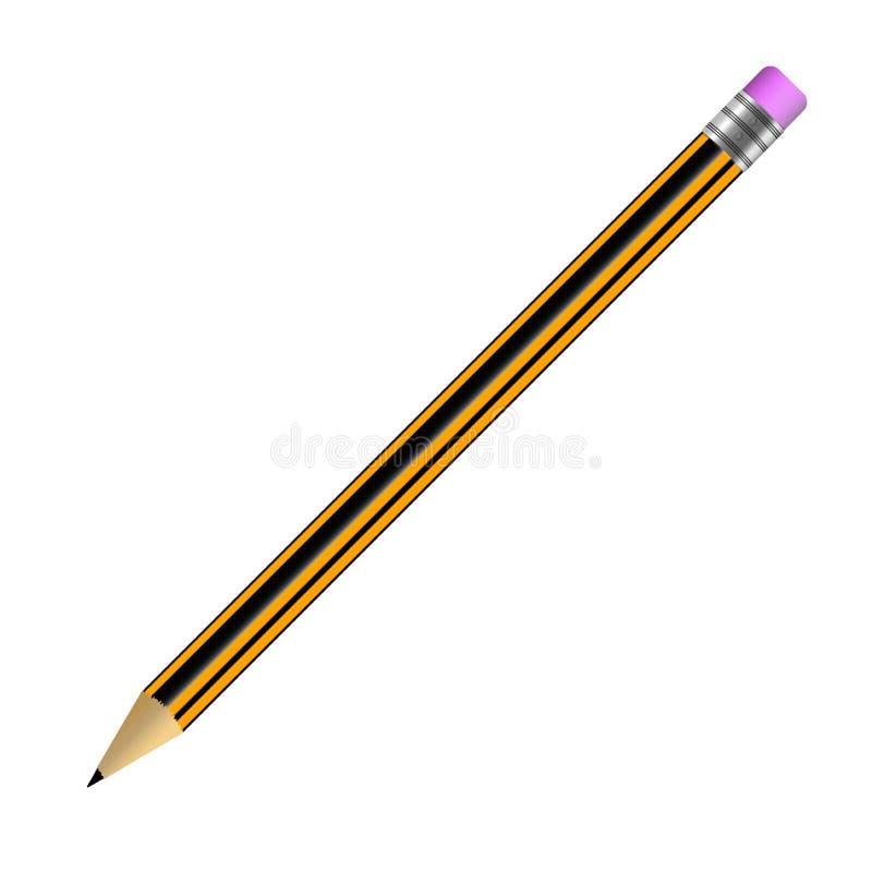 Crayonnez simple avec une bande élastique d'isolement sur l'illustration blanche de fond illustration de vecteur