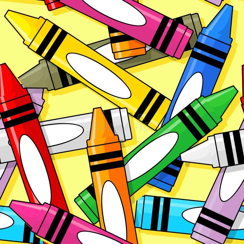 Crayons безшовная картина иллюстрация штока