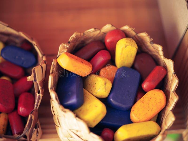 Crayons воска Waldorf стоковая фотография