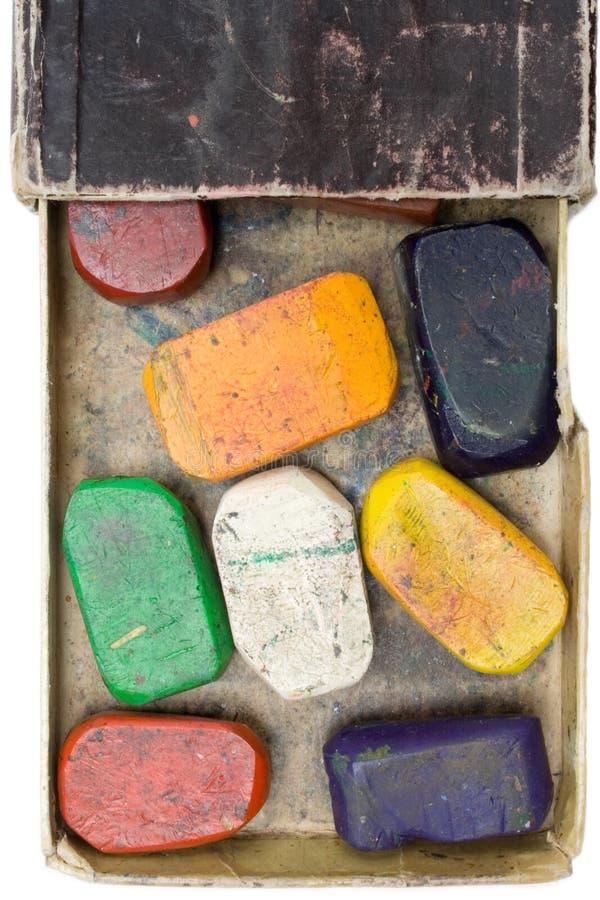 crayons использовали воск стоковое изображение rf