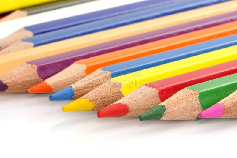 crayons цвета цветастые стоковое изображение rf