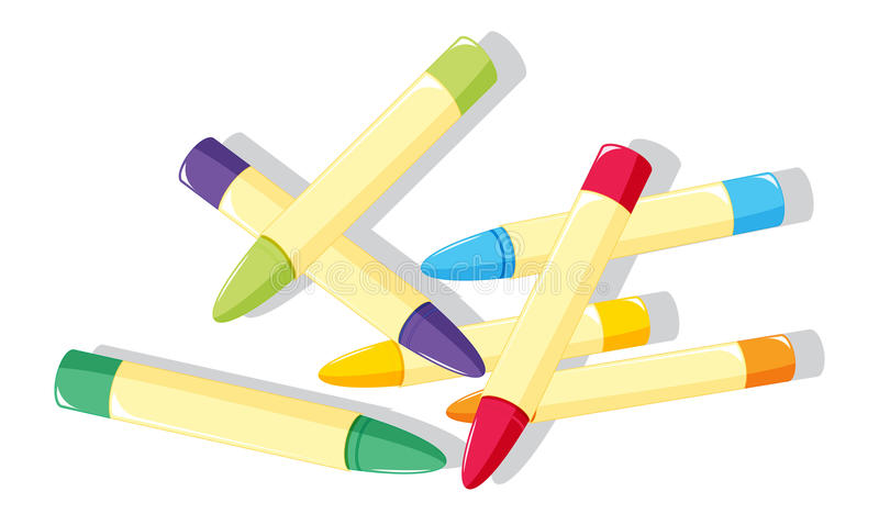 Download Crayons stock vector. Image of colour, learing, education - 10487525