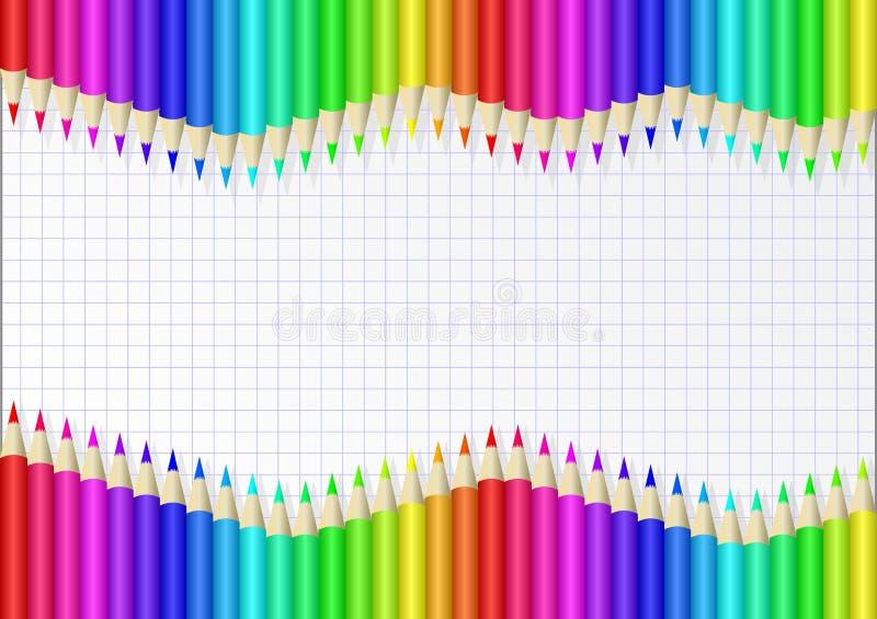 crayons vektor illustrationer
