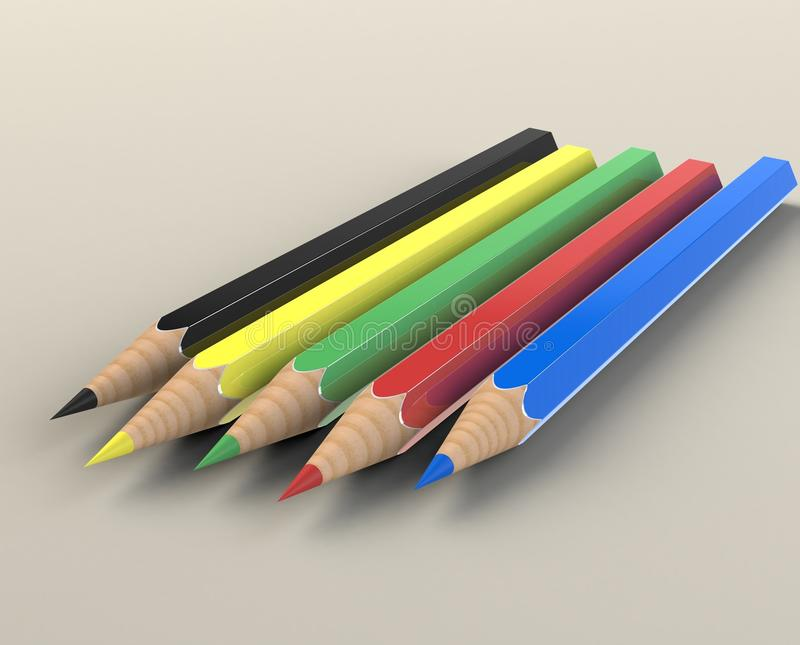 Download Crayons stock illustration. Image of family, illustration - 13200442