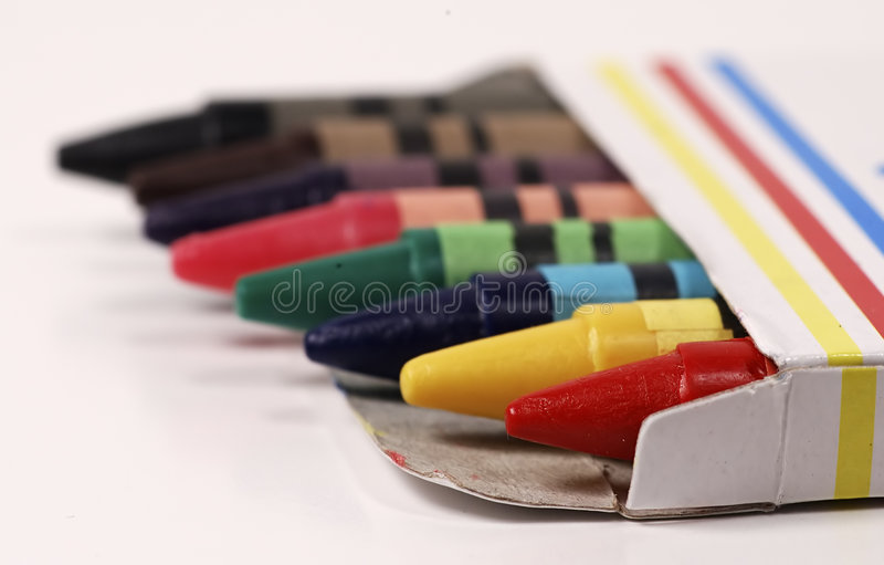 Download Crayons stock image. Image of play, color, childhood, illustrate - 13843