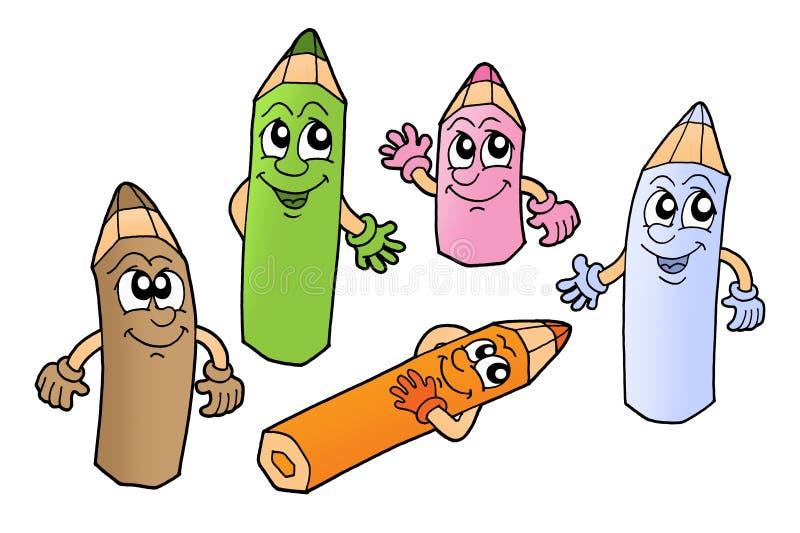 Crayons 2 illustration libre de droits