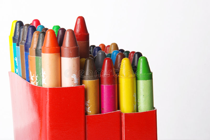 Download Crayons stock photo. Image of rainbow, coloring, background - 3078912
