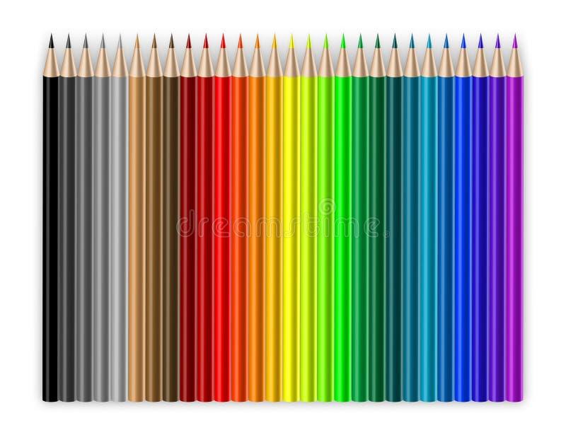 Download Crayons stock illustration. Illustration of drawing, pencils - 4221262
