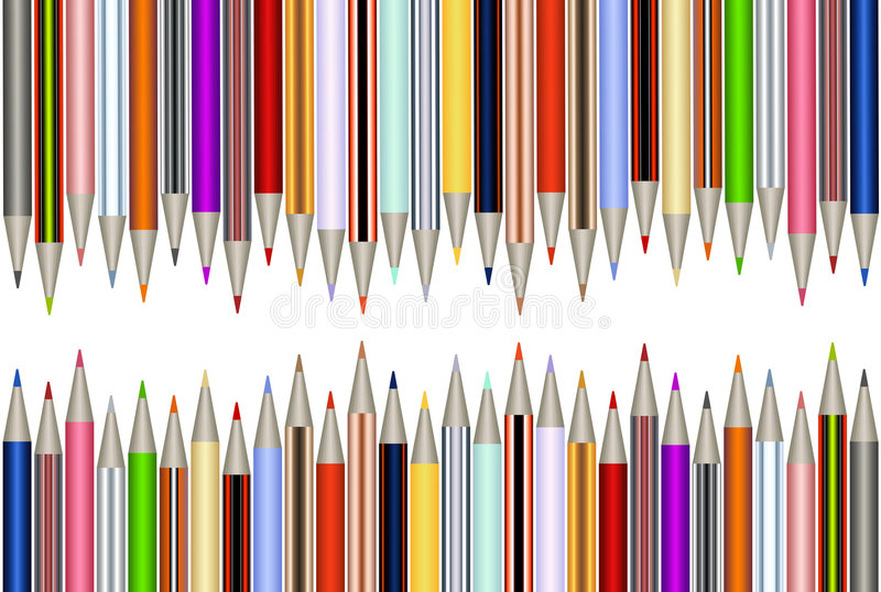 Crayons illustration de vecteur