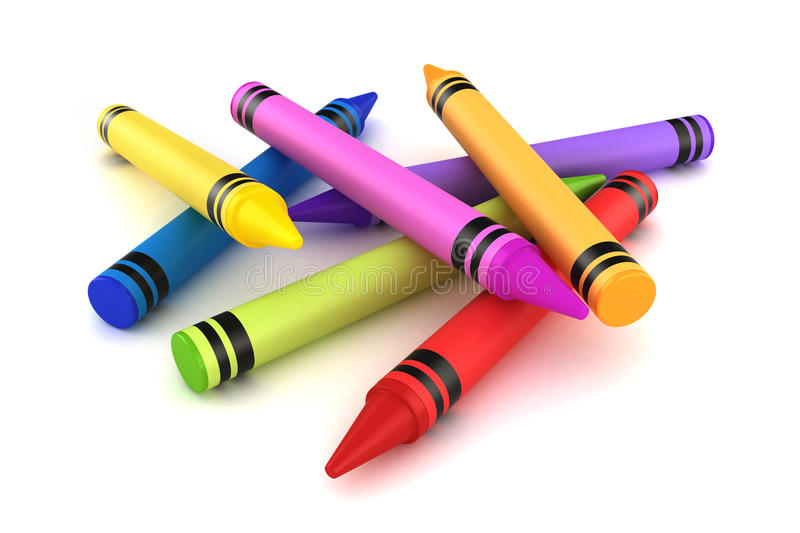 crayons stock illustrationer