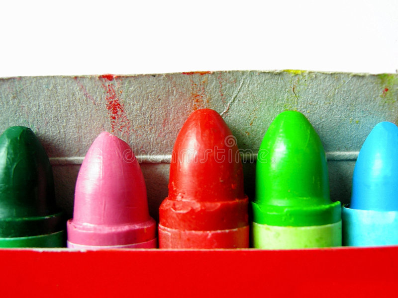 Download Crayons stock photo. Image of green, crayon, colour, coloring - 454326