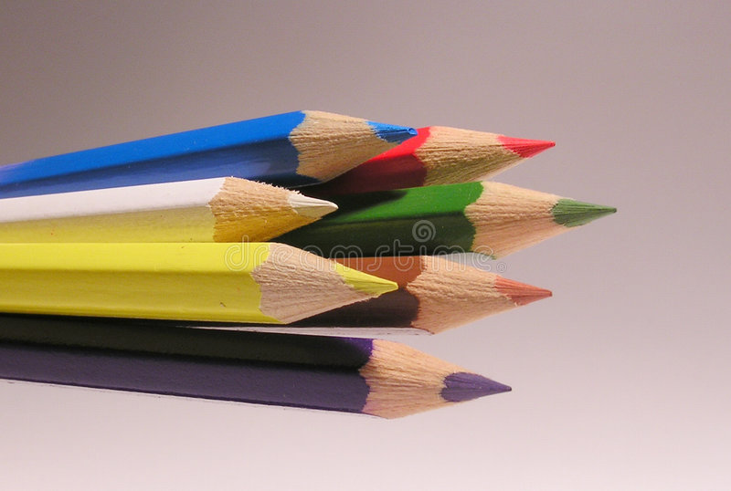 crayons 7 стоковая фотография rf