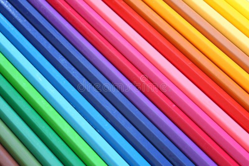 Crayons abstraits de couleur photographie stock libre de droits