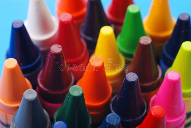 Crayons assortis photographie stock libre de droits