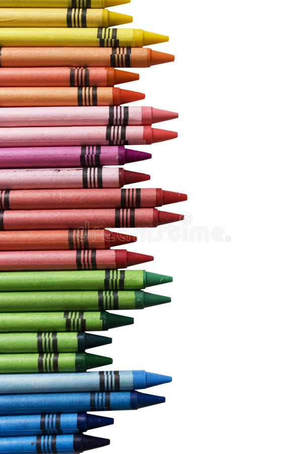 Crayons background royalty free stock photo