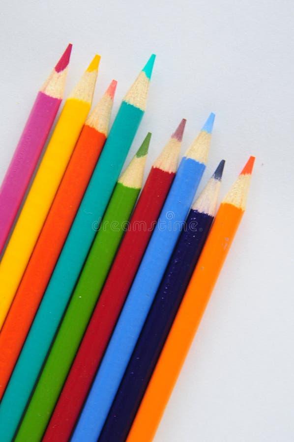 Crayons colorés image stock