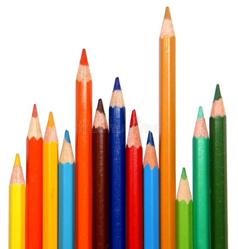 Crayons colorés empilés photographie stock libre de droits