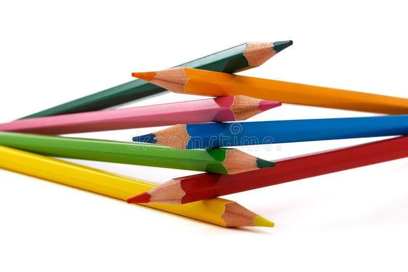 Crayons colorés par conception images stock
