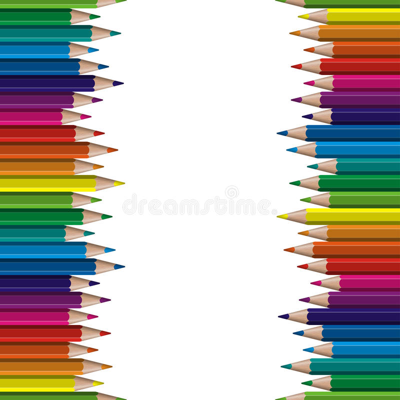 crayons colorés sans couture illustration stock