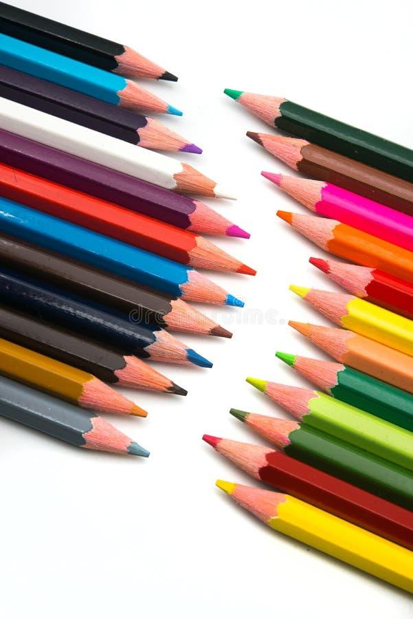 Crayons color?s sur le fond blanc photo libre de droits