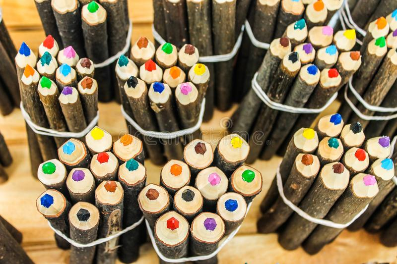 Crayons Colours Texture Handcraft Background royalty free stock photography
