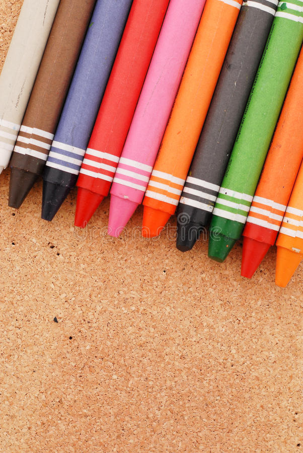 Download Crayons On Cork stock image. Image of decorate, craft - 24174553