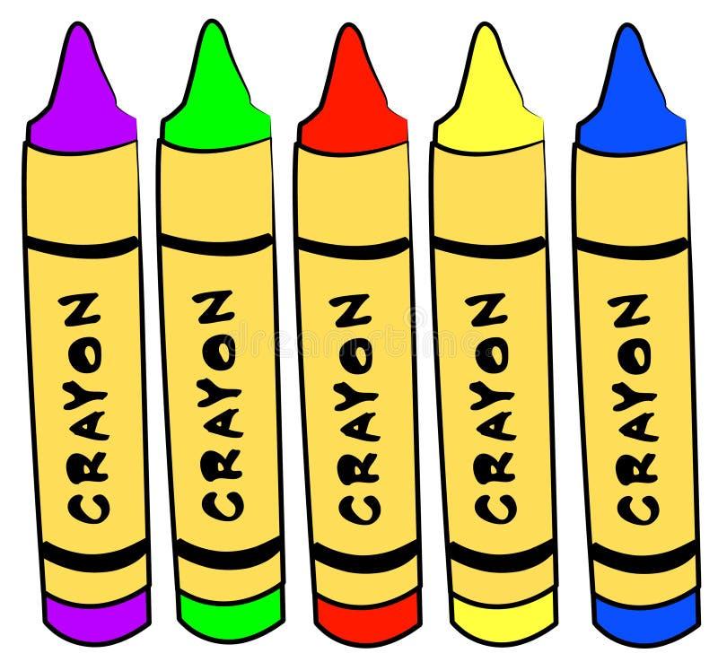Crayons d'art et de métier illustration libre de droits