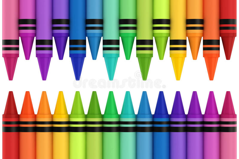 Crayons royalty free illustration