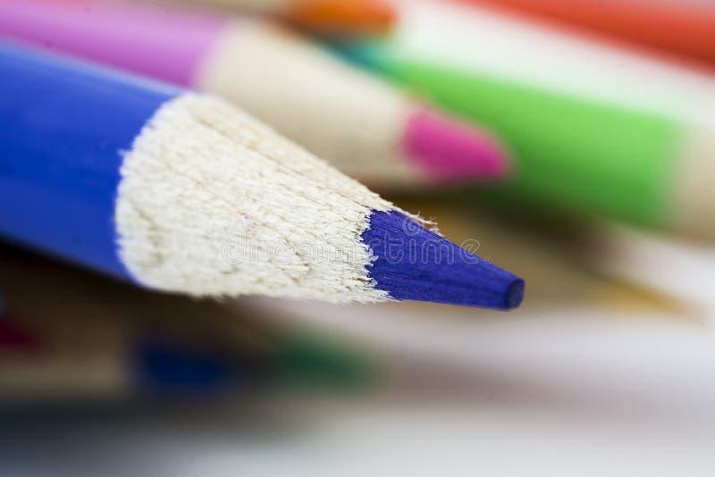 Crayons dans l'agrandissement photos libres de droits