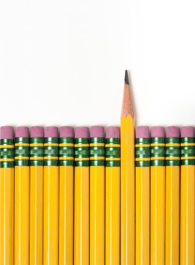 Crayons dans une rangée images stock