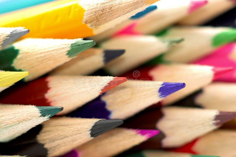 Crayons de coloration images libres de droits