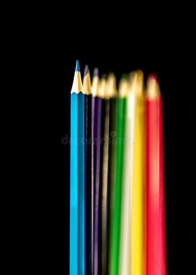 Crayons de coloration Profondeur de photo de champ image libre de droits