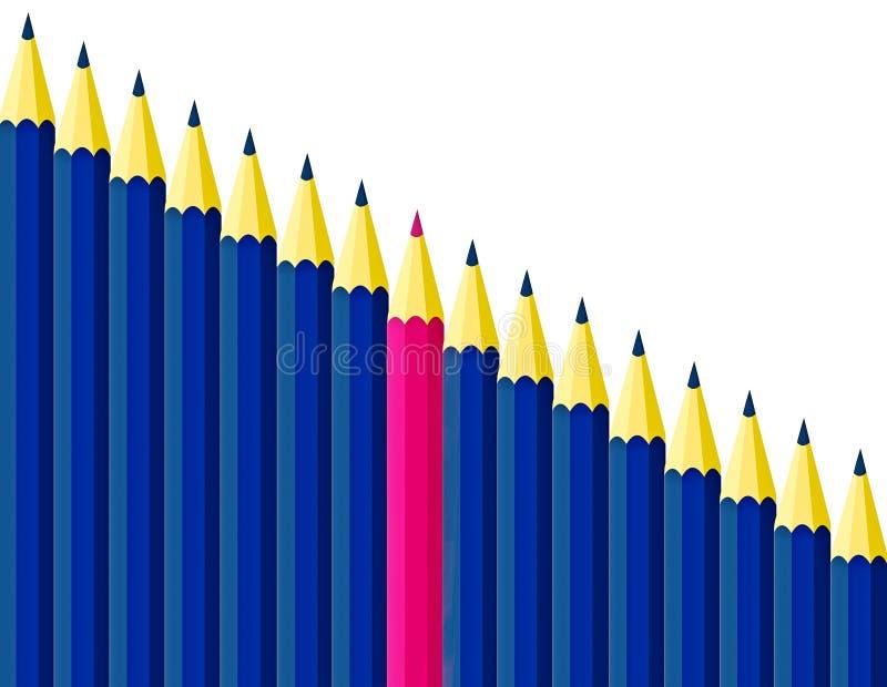 Crayons de couleur illustration stock