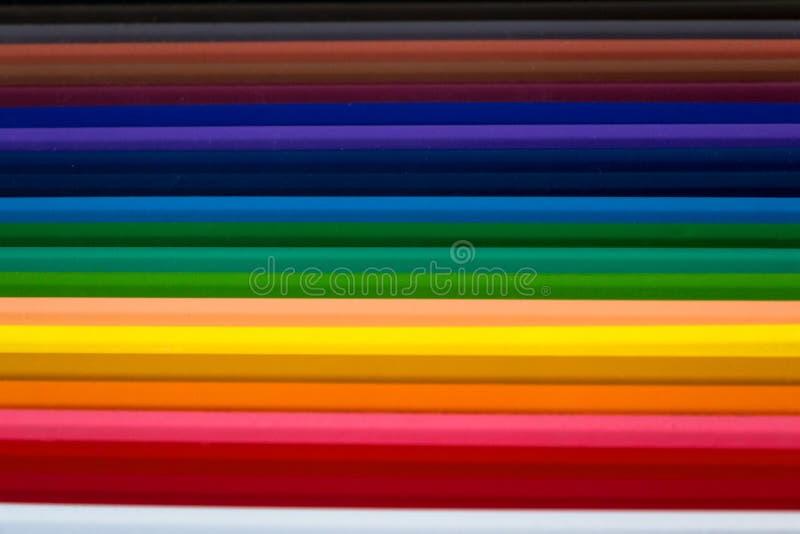 Crayons de couleur pour le fond abstrait photographie stock