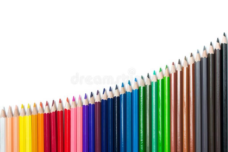 Crayons de couleur réglés photos libres de droits