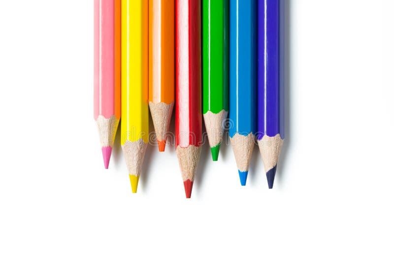 Crayons de couleur réglés photo stock