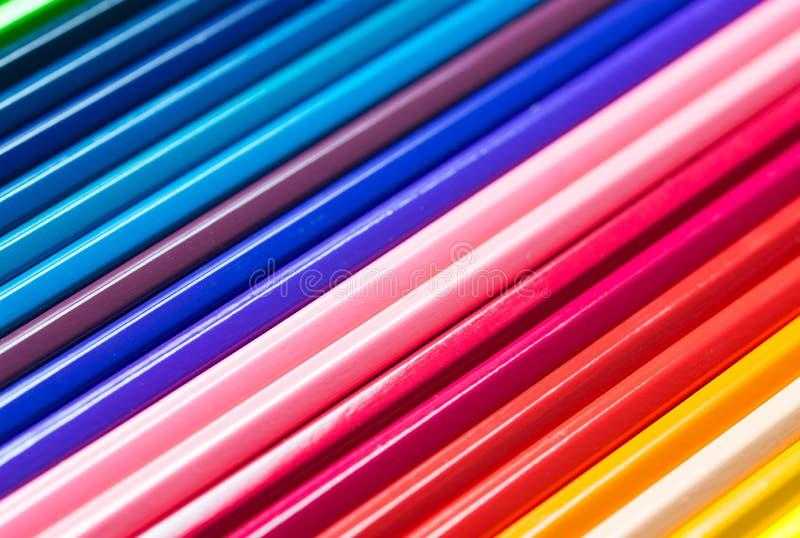 Crayons de couleur réglés photographie stock libre de droits