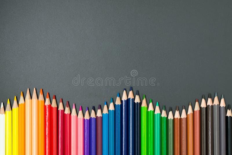 Crayons de couleur réglés photographie stock
