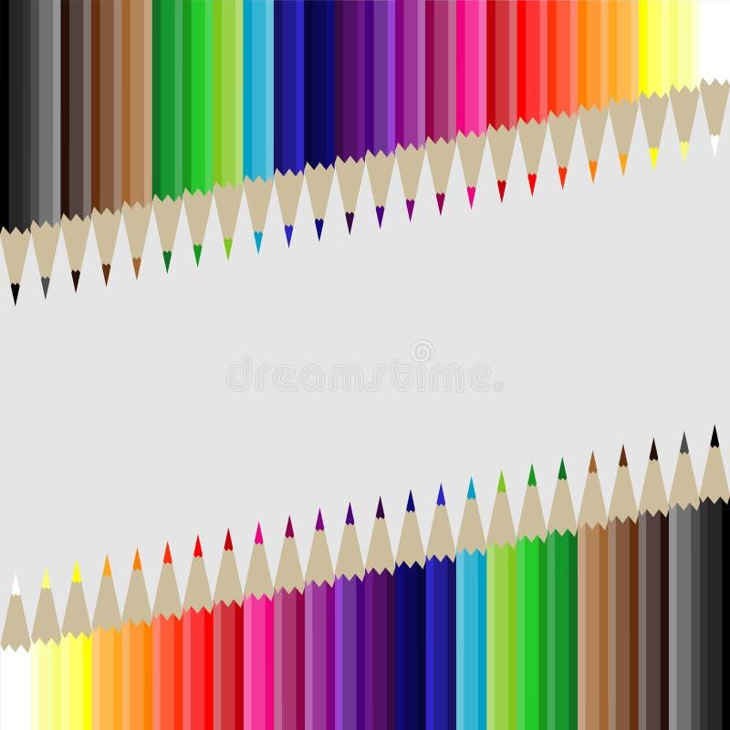 Crayons de fond image stock
