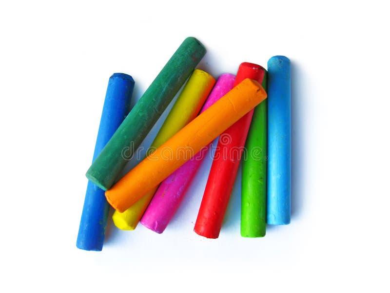 Crayons de pétrole images stock