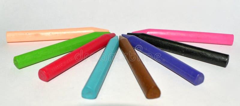 Crayons de plastique de cire photo libre de droits