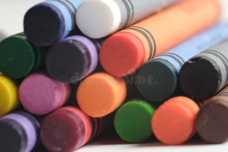 Crayons Den Mångfärgade Modellen Royaltyfri Bild