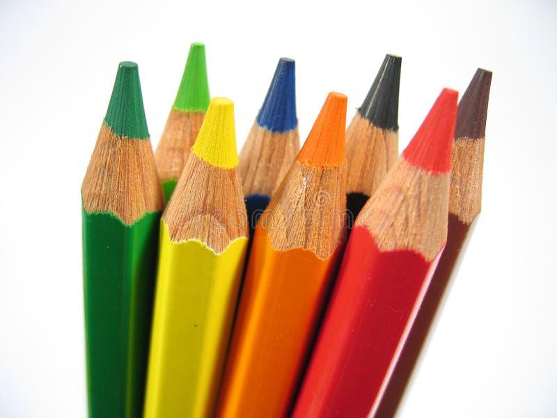 Crayons droits II photographie stock libre de droits