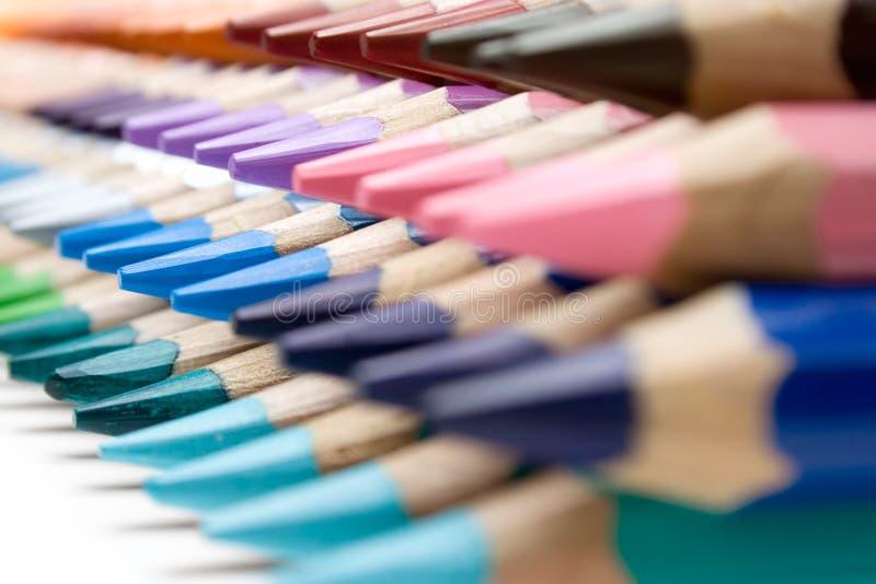 Crayons empilés photo libre de droits
