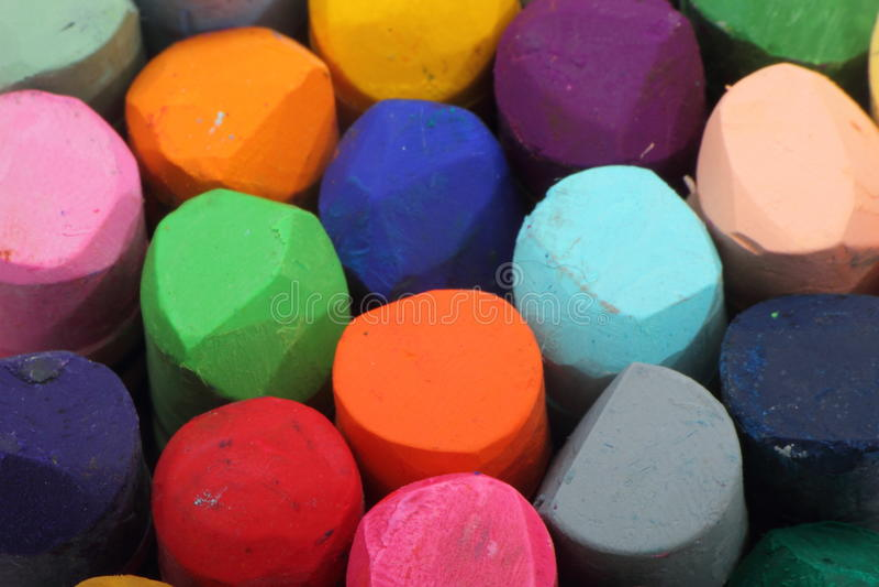 Crayons en pastel photographie stock