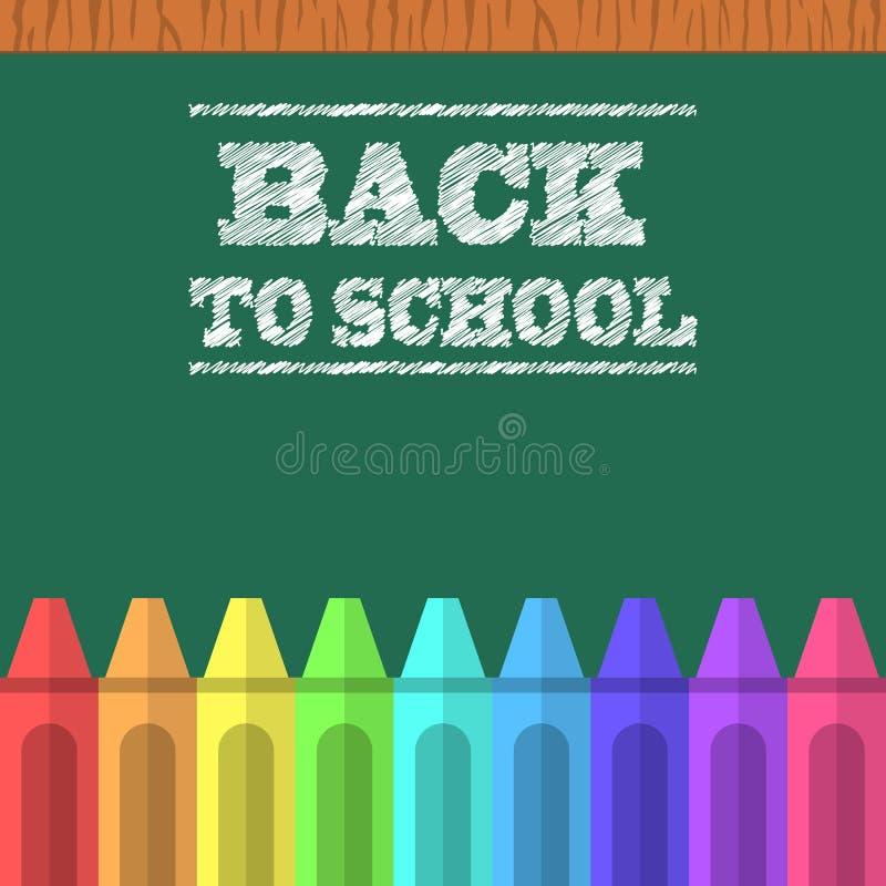 Download Crayons Et Conseil Pédagogique Vert Illustration de Vecteur - Illustration du classe, coloré: 76075061