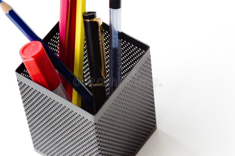 Crayons et crayons lecteurs photographie stock