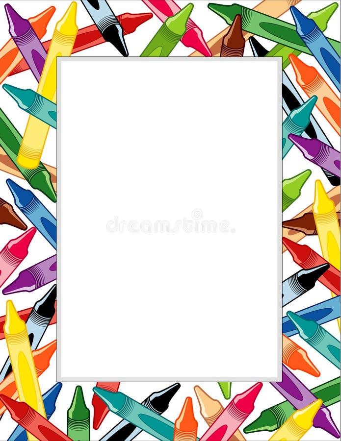 crayons frame иллюстрация вектора