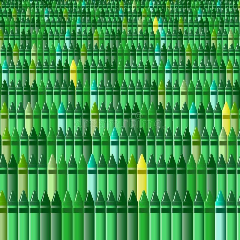 Crayons - herbe verte illustration libre de droits