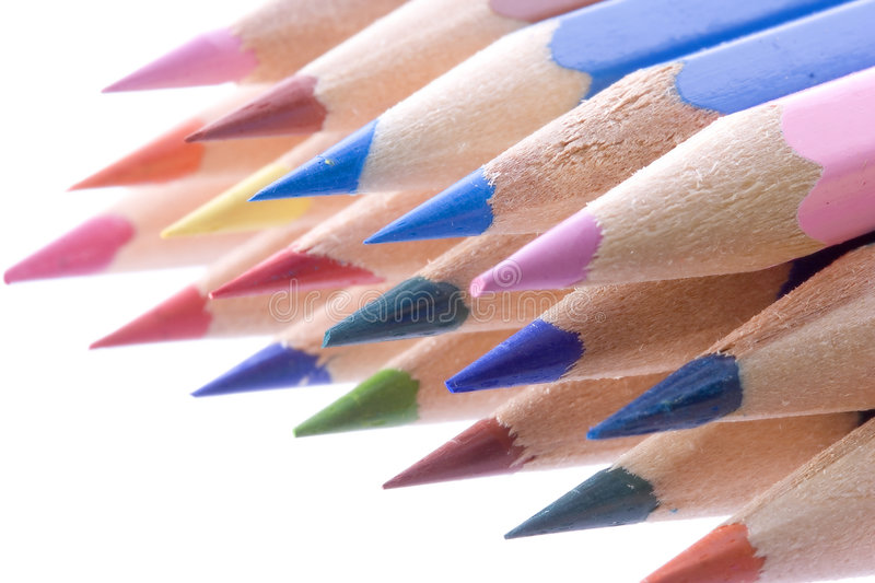 Crayons Isolated On White Royalty Free Stock Image